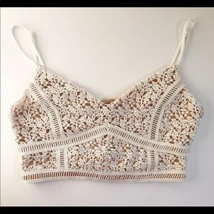 Kendall and Kylie Bustier Floral Top